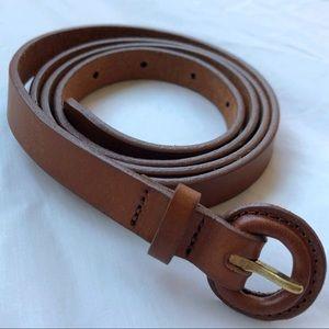 J Crew Brown Leather Thin Fashion Belt